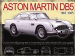 Aston Martin DB5 Vintage Metal Steel Advertising Sign Plaque 30 x 40m cm